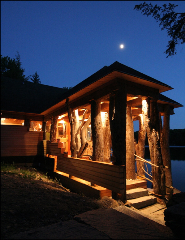 Lake Raponda House Fireplace