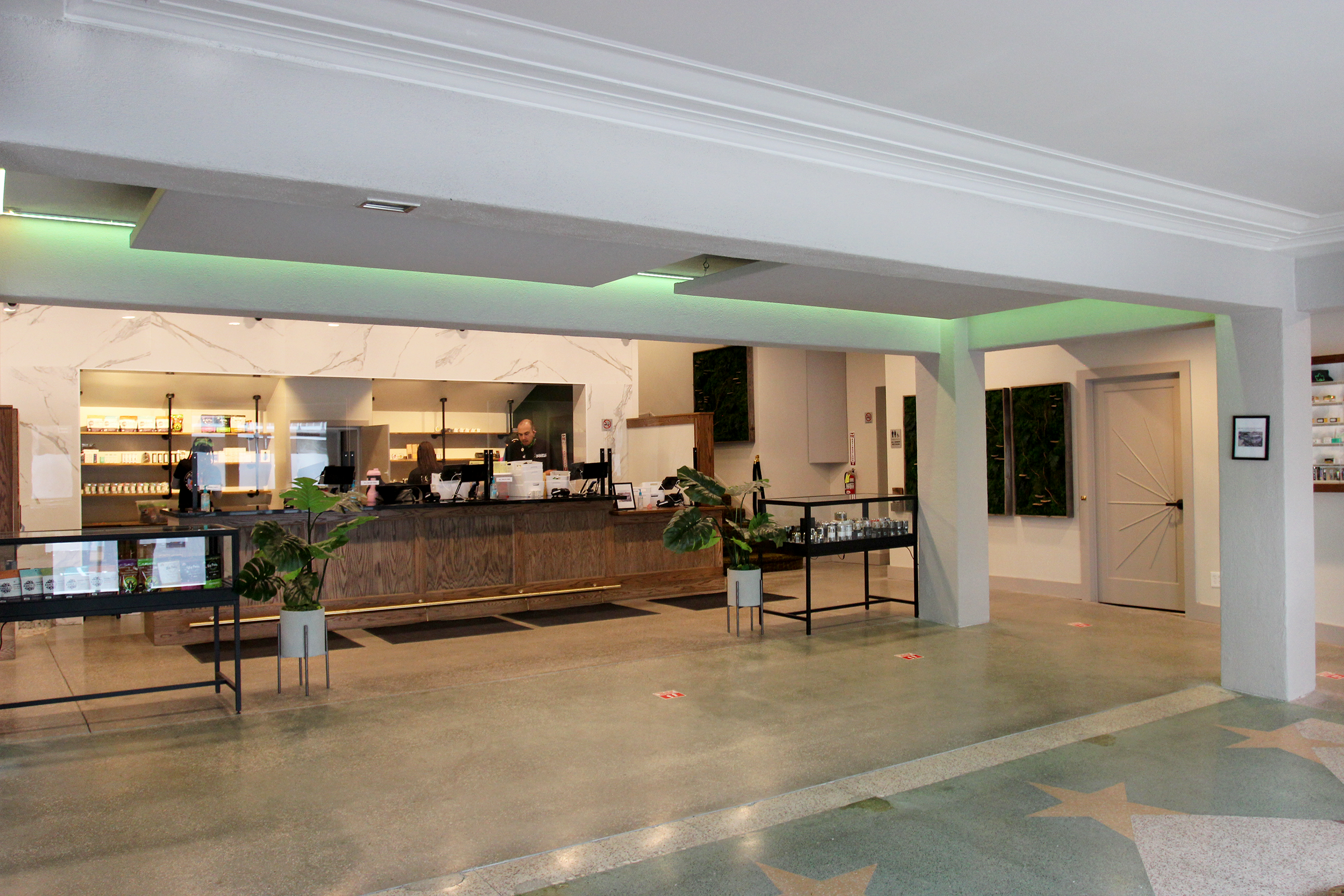 entrance and POS area of Ivy Hill Cannabis