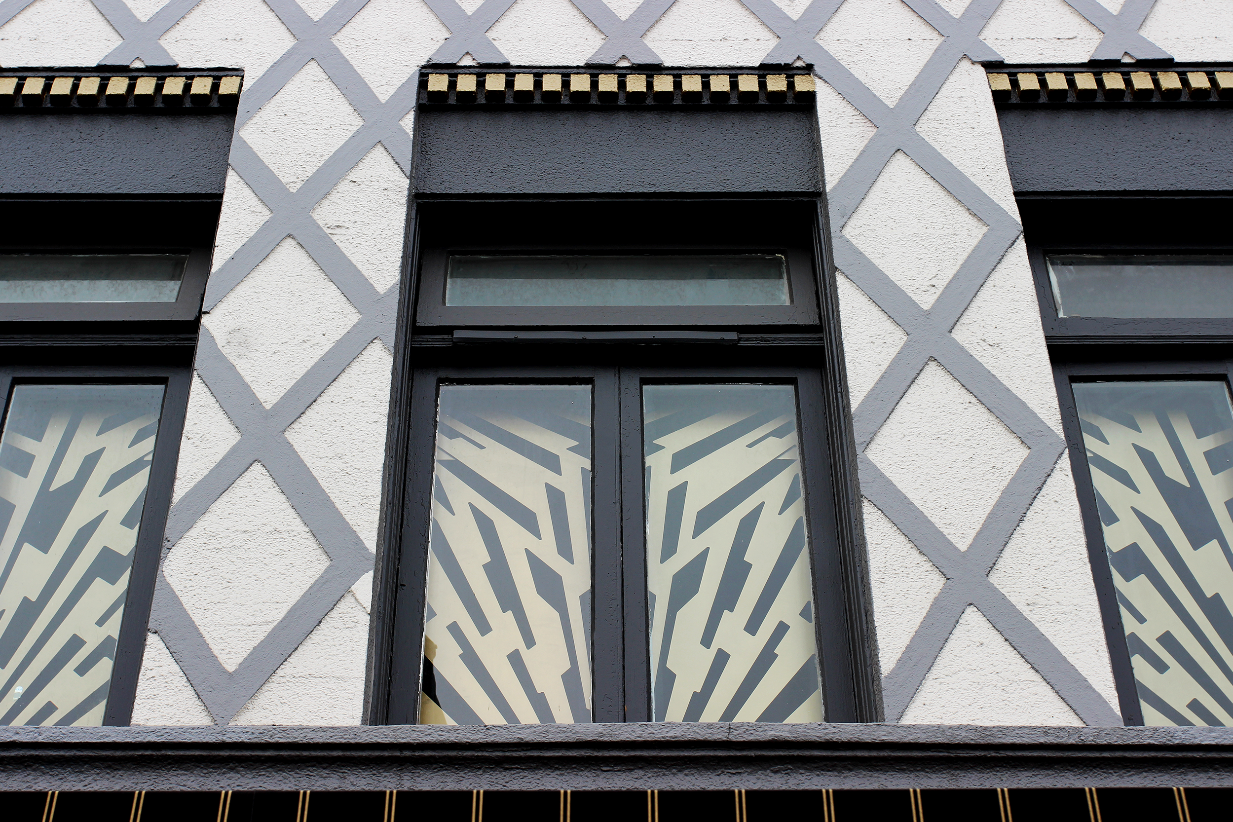 exterior image of The Parkway window grates